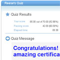 Joomla! quiz template